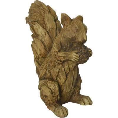 Driftwood Resin Squirrel Ornament Light Brown