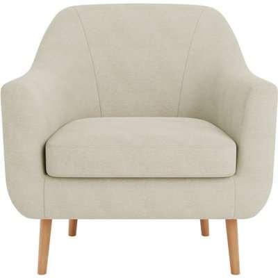 Eddie Fabric Tub Chair Natural