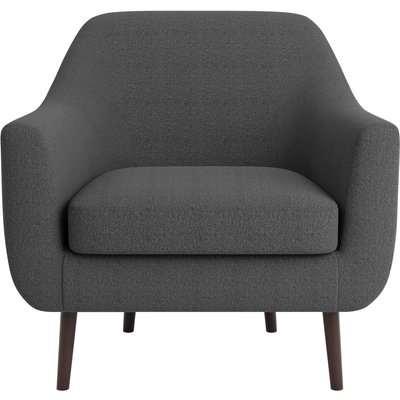Eddie Fabric Tub Chair Charcoal