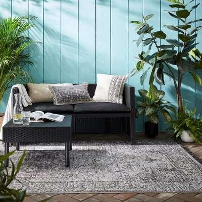 Edith Indoor Outdoor Rug Grey