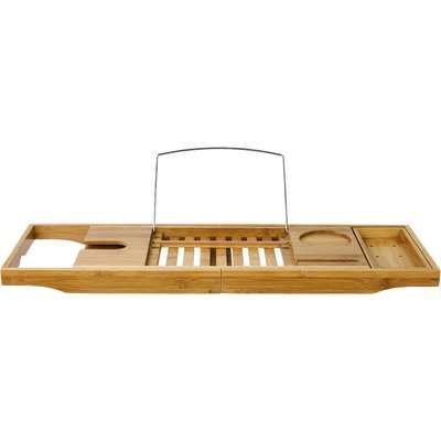 Elements Bamboo Extendable Bath Rack Natural