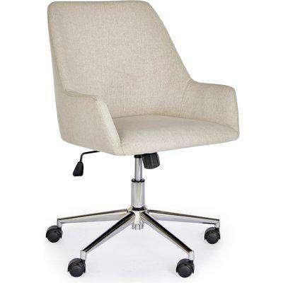 Elliott Natural Fabric Office Chair Beige