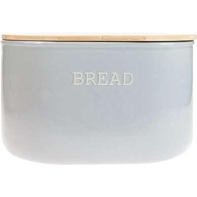 Embossed Grey Bread Bin Grey and Brown
