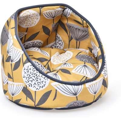 Emmott Cat Bed Yellow, Grey and White