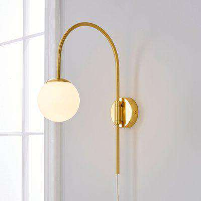 Eniola Easy Fit Plug in Wall Light Gold Gold