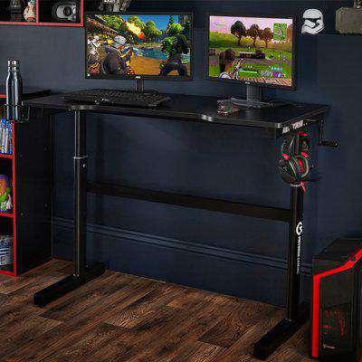 Ergonomic Sit-Standing Adjustable Gaming Desk Black/Red