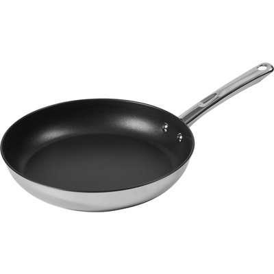Dunelm Essentials 28cm Stainless Steel Frying Pan Silver