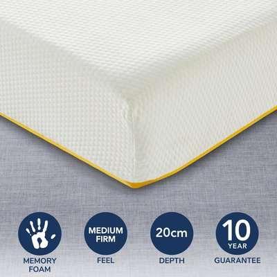 Eve Medium Firm Light Memory Foam Mattress White