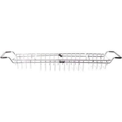 Extendable Bath Rack Silver