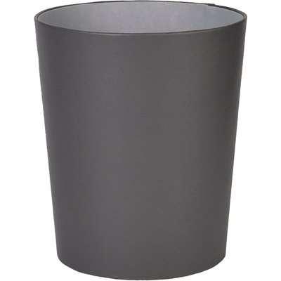 Faux Leather Waste Bin Grey
