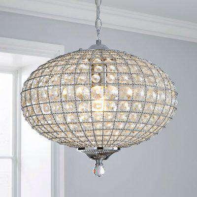 Felicity 1 Light Pendant Jewel Chrome Ceiling Fitting Clear