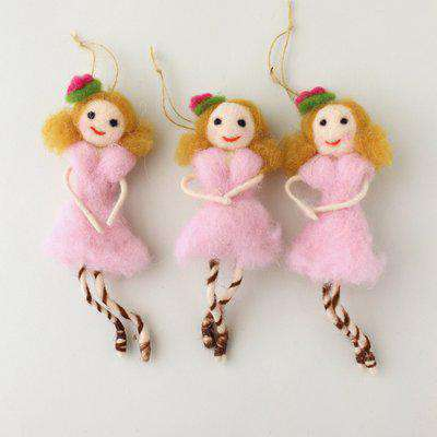 Felt Imelda Fairy Hanging Decoration Pink, Yellow and Green