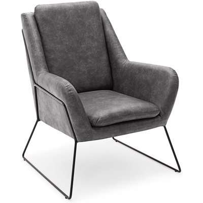 Ferne Metal Framed Chair - Grey Grey