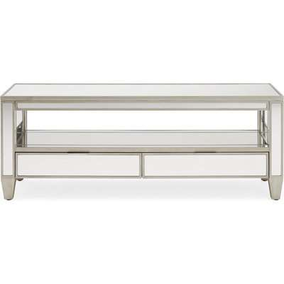 Fitzgerald Mirrored TV Stand Silver