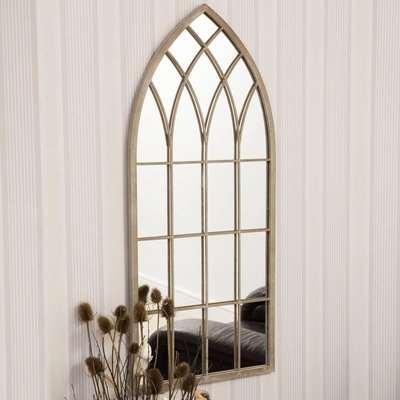 Flitwick Cream Outdoor Window Mirror Cream