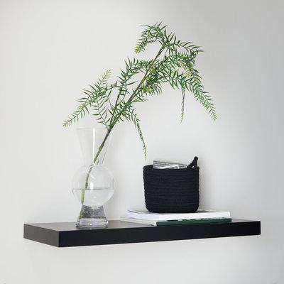 Black Floating Shelf Black