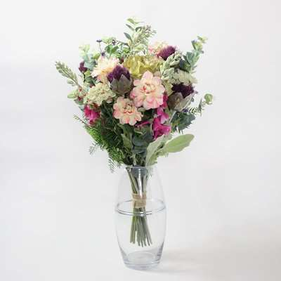 Florals Forever Amelia Eustoma Luxury Bouquet Pink, Green and Purple