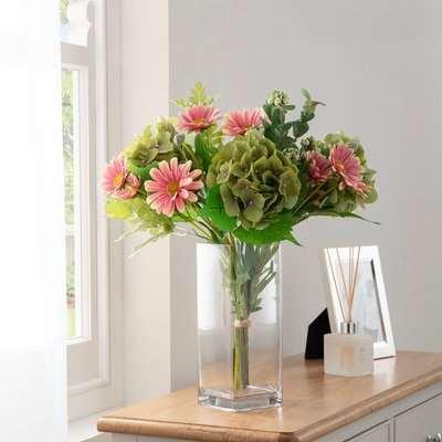 Florals Forever Chloe Hydrangea Luxury Bouquet Pink 63cm Pink