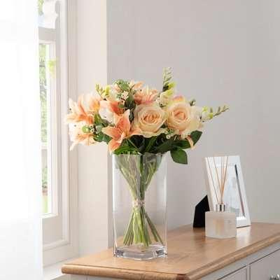 Florals Forever Elizabeth Tiger Lily Luxury Bouquet Orange 63cm Orange, Green and Clear