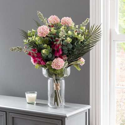 Florals Forever Everly Foxglove Luxury Bouquet Pink 63cm Pink