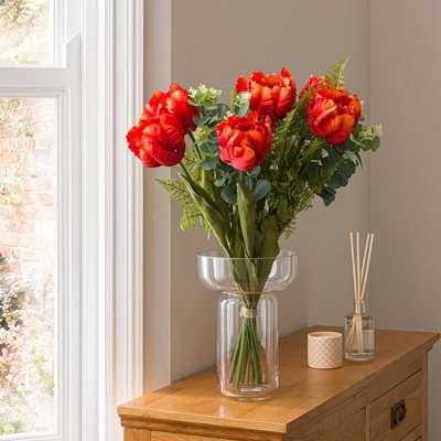 Florals Forever Florence Tulip Luxury Bouquet Orange 58cm Orange