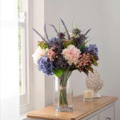 Florals Forever Genevieve Gypsophila Luxury Bouquet Purple 63cm Purple