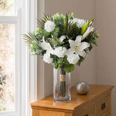 Florals Forever Grace Lily Luxury Bouquet White 63cm Green and White
