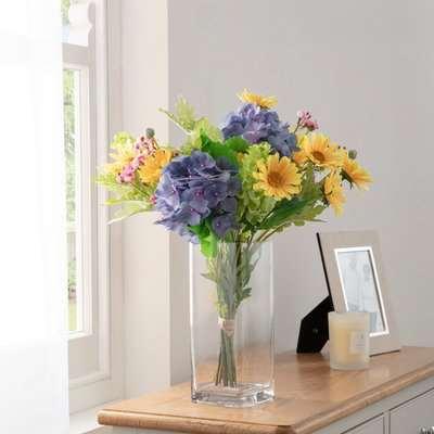 Florals Forever Isla Hydrangea Luxury Bouquet Multi 63cm Blue, Purple and Green