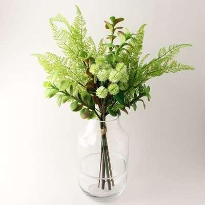 Florals Forever Jade Succulent Bouquet Green
