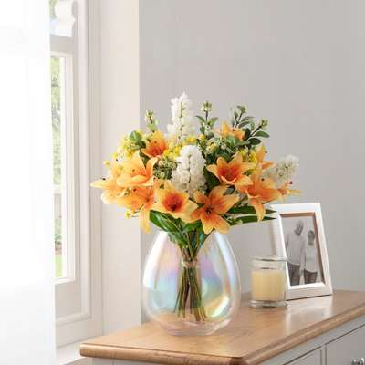Florals Forever Jane Tiger Lily Luxury Bouquet Yellow 63cm Yellow