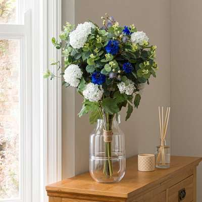 Florals Forever May Cornflower Luxury Bouquet Blue 63cm Blue