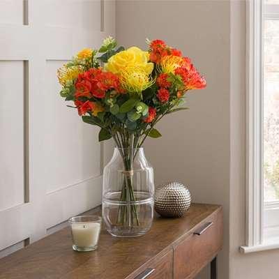 Florals Forever Orla Alstromeria Luxury Bouquet Orange 58cm Orange
