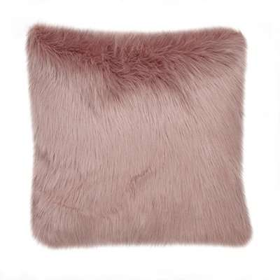 Fluffy Faux Fur Cushion Cover Pink