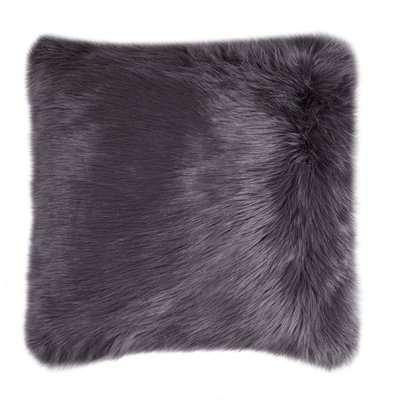 Fluffy Faux Fur Cushion Cover Charcoal