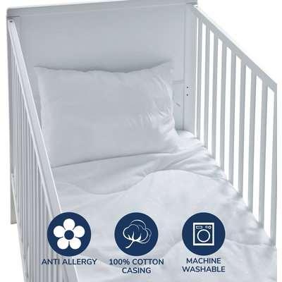 Fogarty Little Sleepers Bamboo Soft 4 Tog Cot Bed Duvet and Pillow Set Ecru