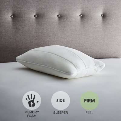 Fogarty Luxury Memory Foam Extra Deep and Firm-Support Pillow White