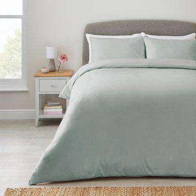 Fogarty Plain Blue Bamboo Duvet Cover and Pillowcase Set Light Blue