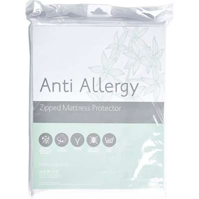Freshnights Anti Allergy 35cm Deep Zipped Mattress Protector White
