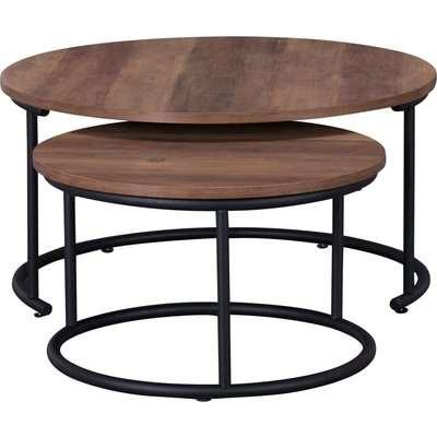 Fulton Set of 2 Coffee Tables Pine