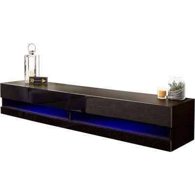 Galicia 150cm LED Wall TV Unit Black