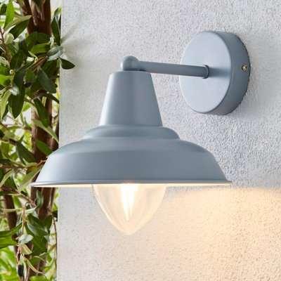 Galley Matt Grey Outdoor Wall Light Grey