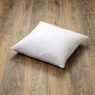 Goose Feather and Down Square Cushion Pad White