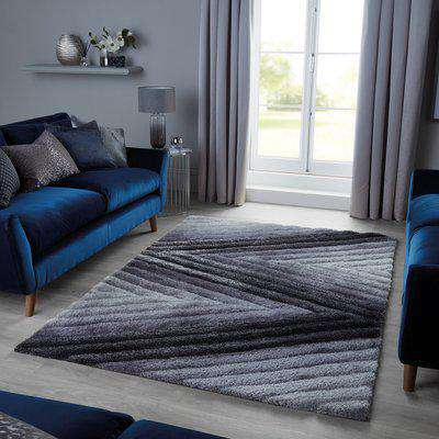 Carved Ombre Rug Carved Ombre Grey
