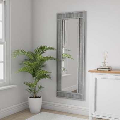 Grey Lucy Cane Full Length Mirror Grey