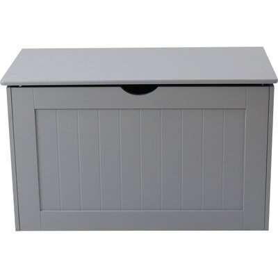 Grey Shaker Blanket Box Grey