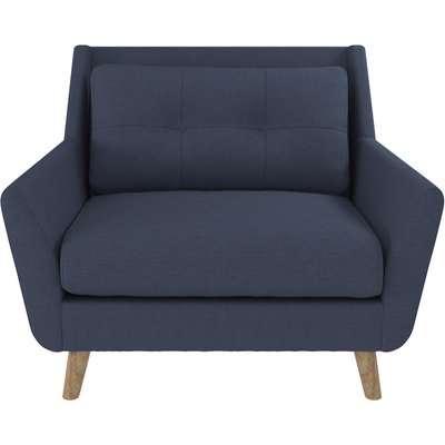 Halston Fabric Snuggle Chair Blue