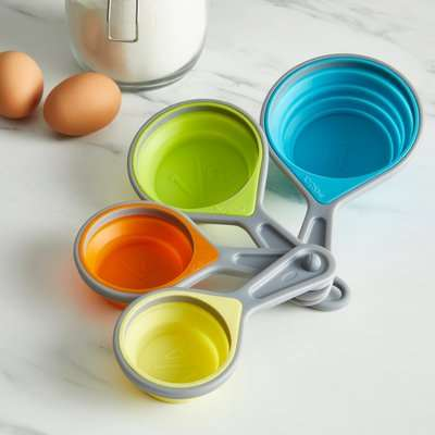 Handy Kitchen Collapsible Measuring Cups MultiColoured