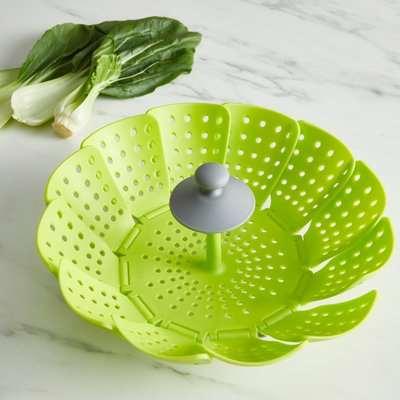 Handy Kitchen Collapsible Steamer Green