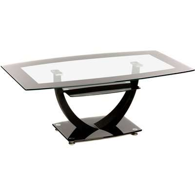 Henley Glass Coffee Table Black
