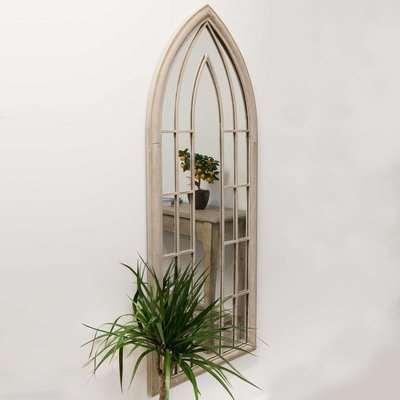 Hinwick Cream Outdoor Window Mirror Cream
